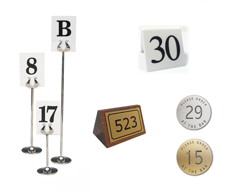 Menu Holders & Table Numbers