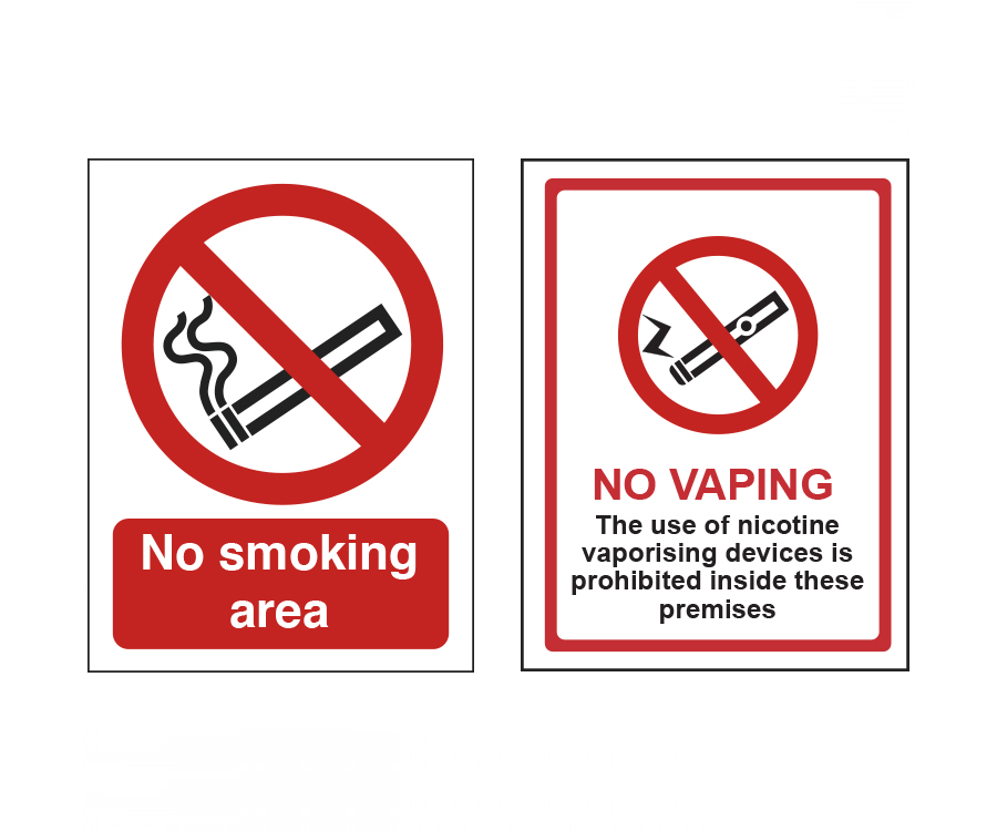 No Smoking & No Vaping Signs