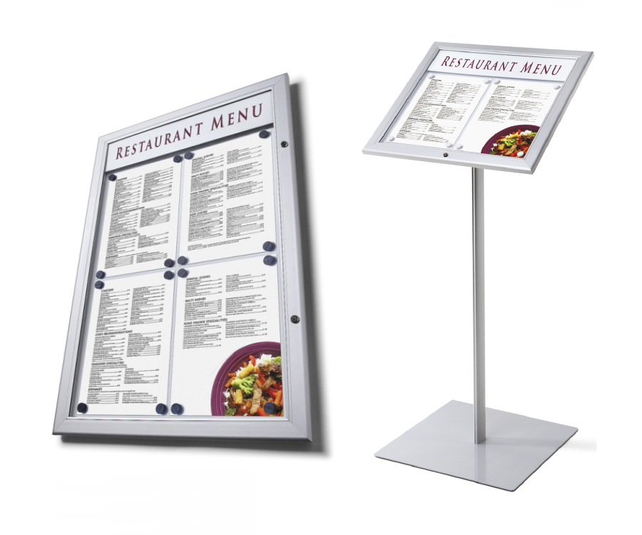 Menu Display Cases & Stands