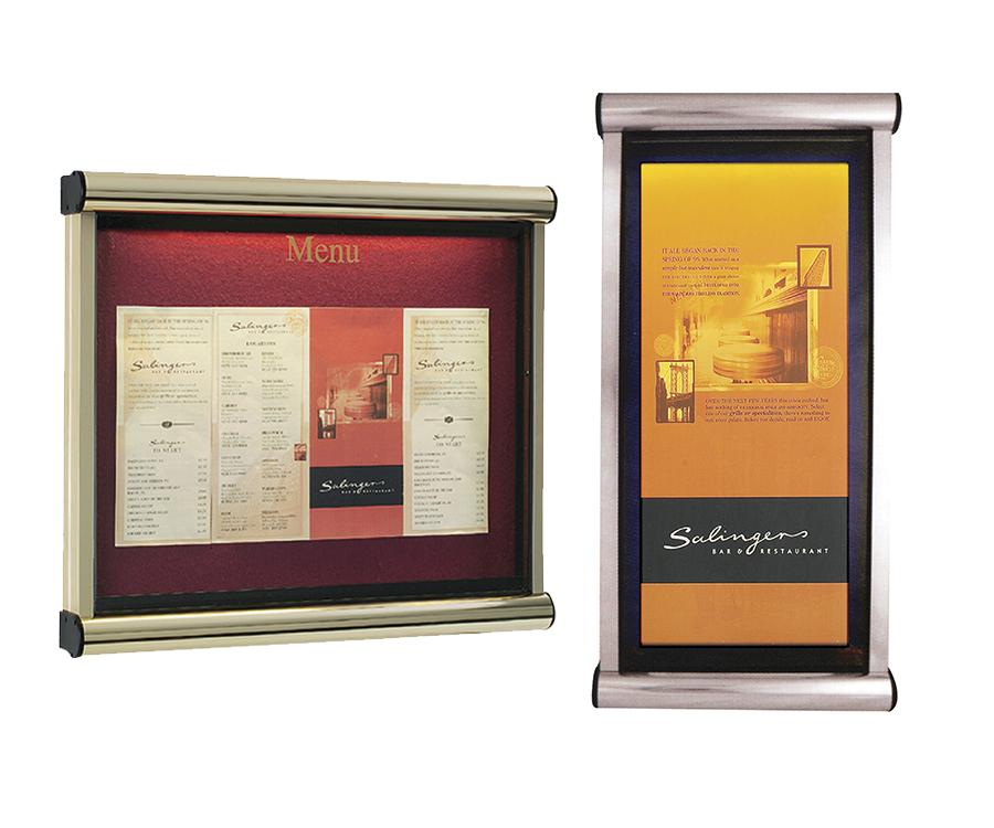 Prestige Menu Display Cases