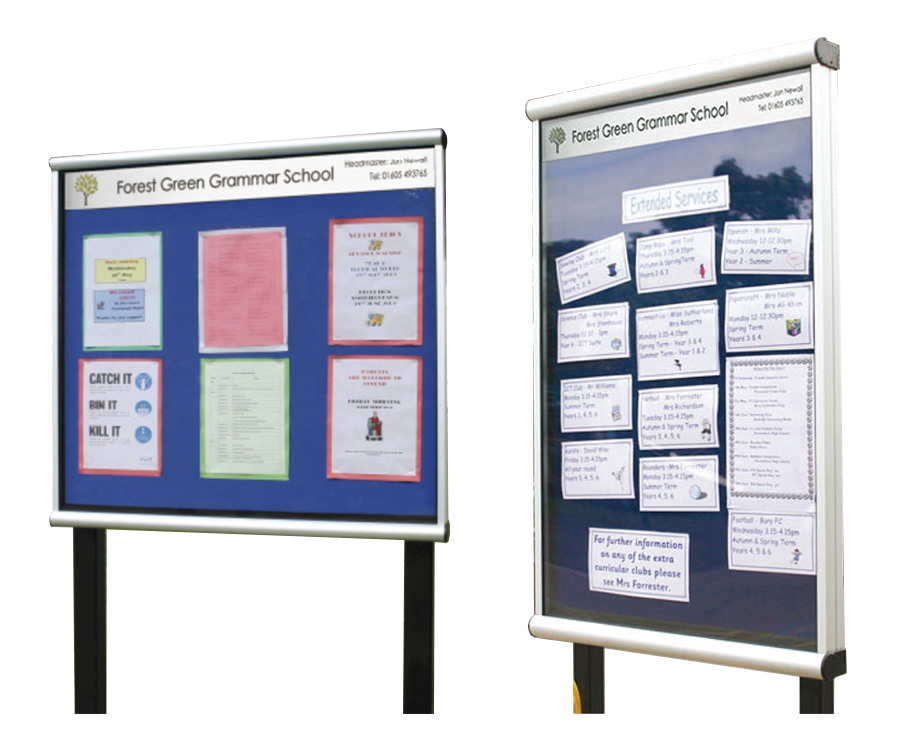 Prestige Post Mounted Outdoor Notice Boards
