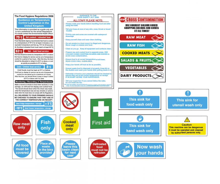 Catering Safety & Food Hygiene Signs
