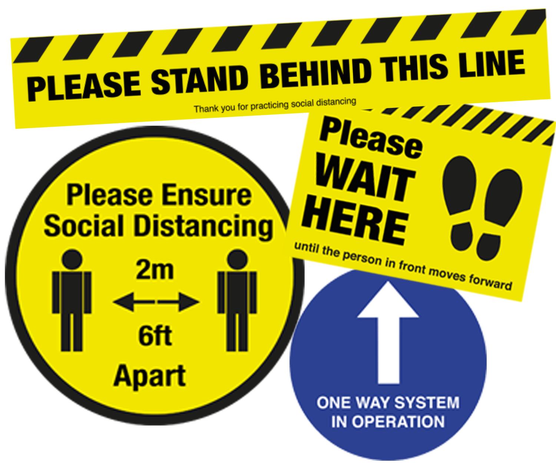 Social Distancing Floor Signs