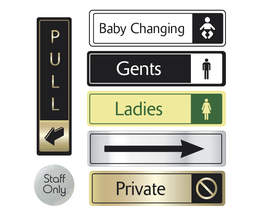Toilet Door & Directional Signs