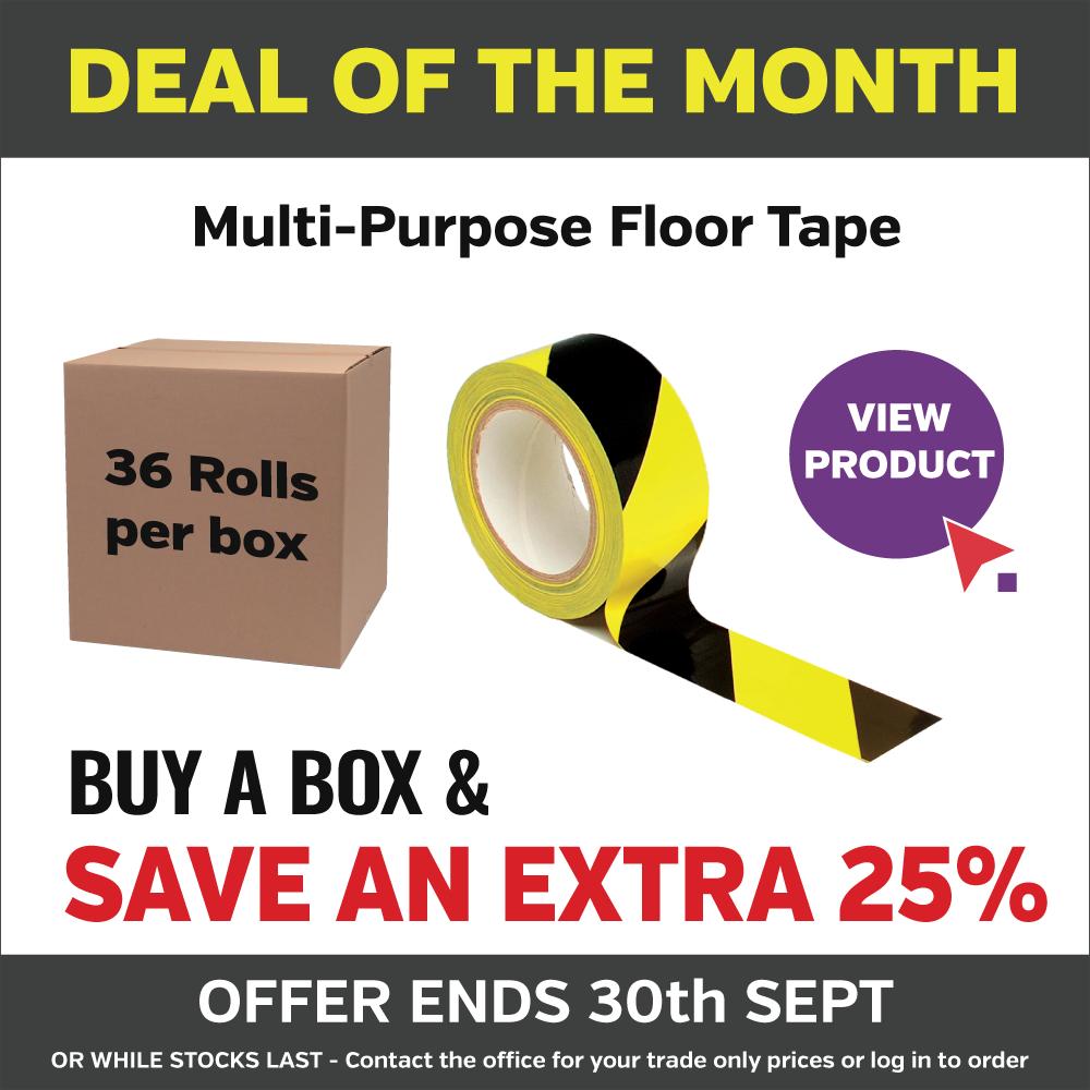 Yellow and Black floor tape
