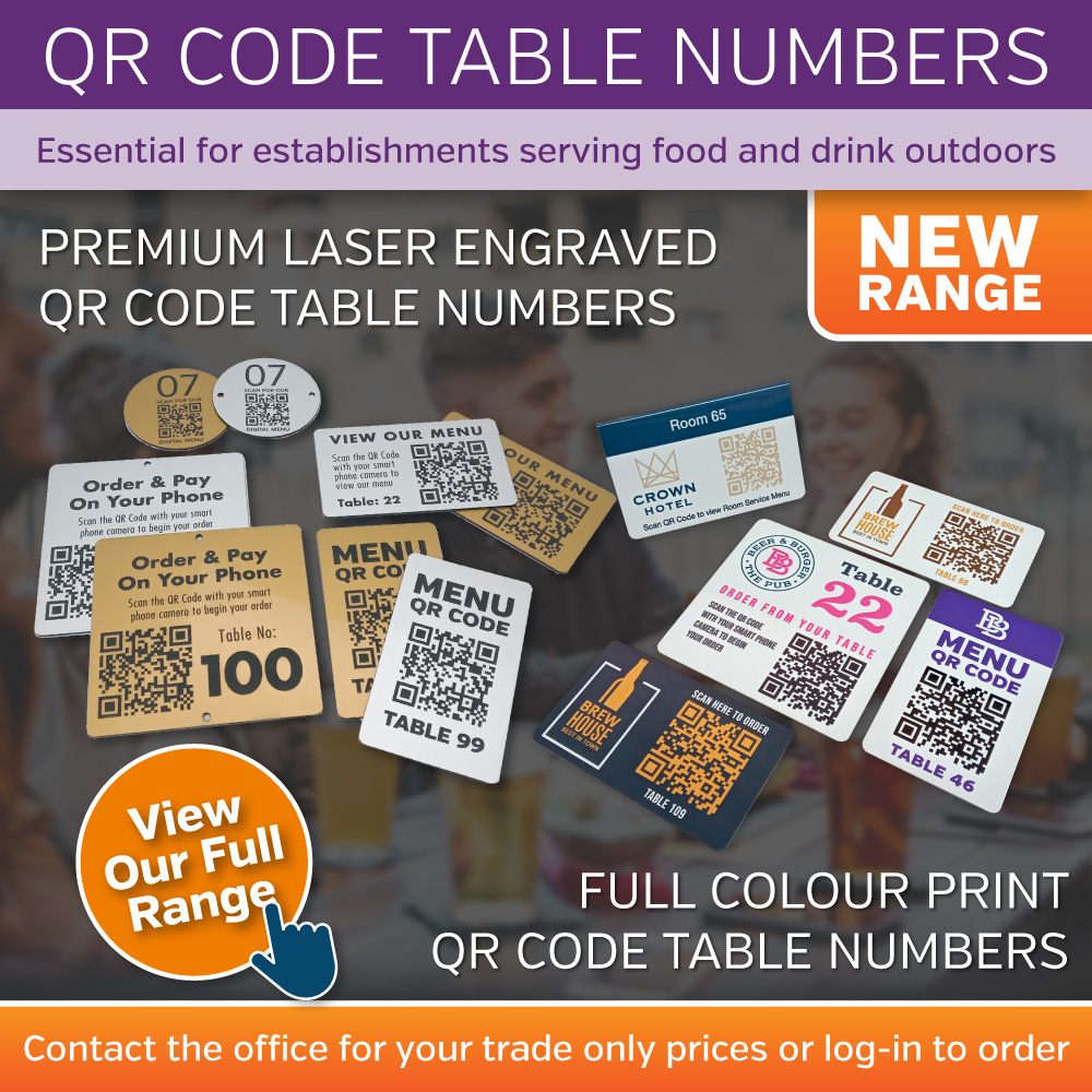 QR Code Table Numbers