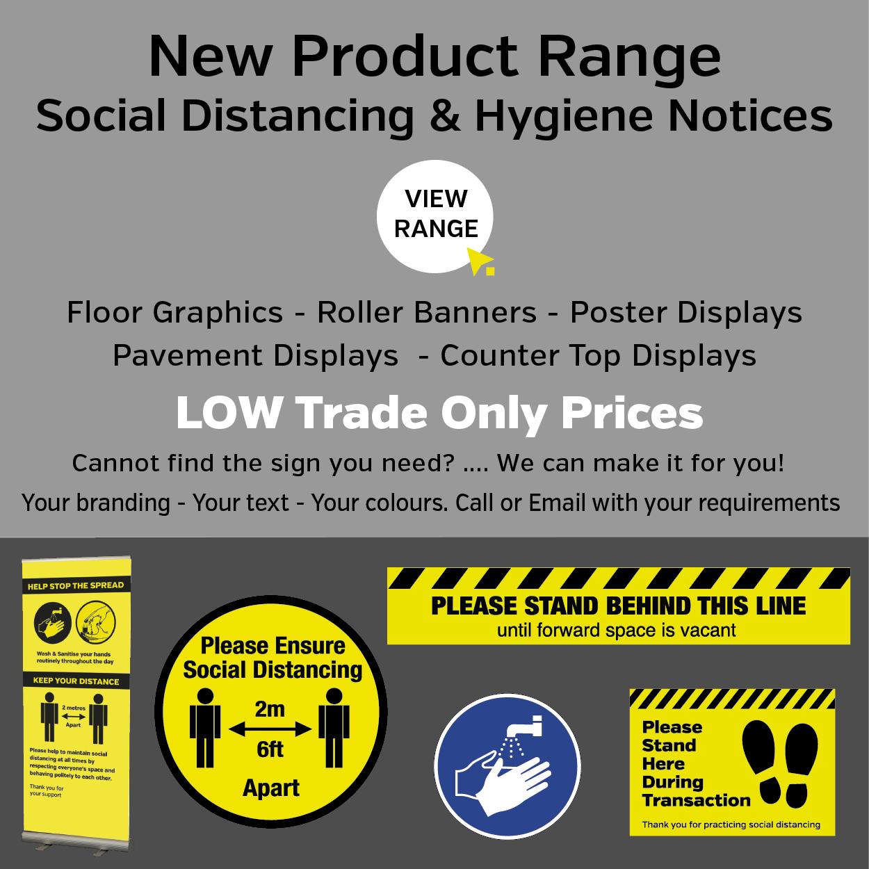 Social Distance Floor Graphics