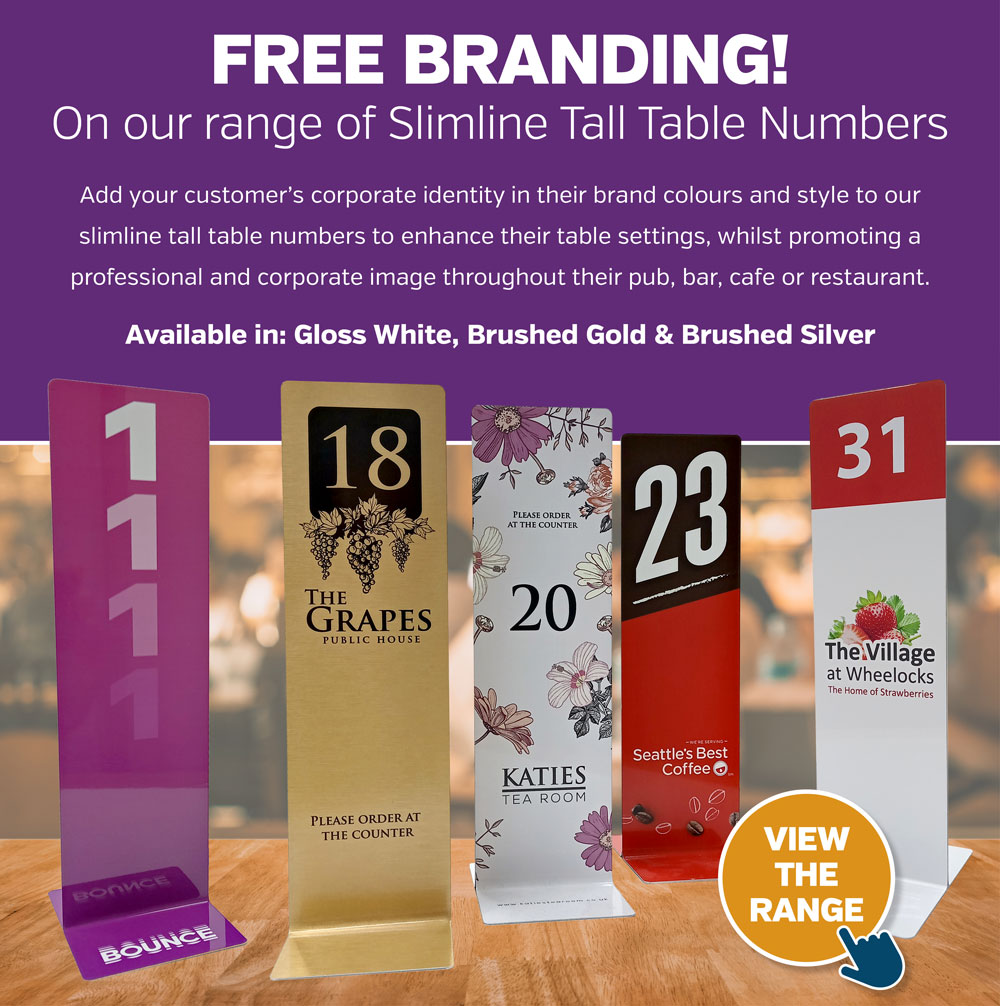 Branded Tall Table Numbers
