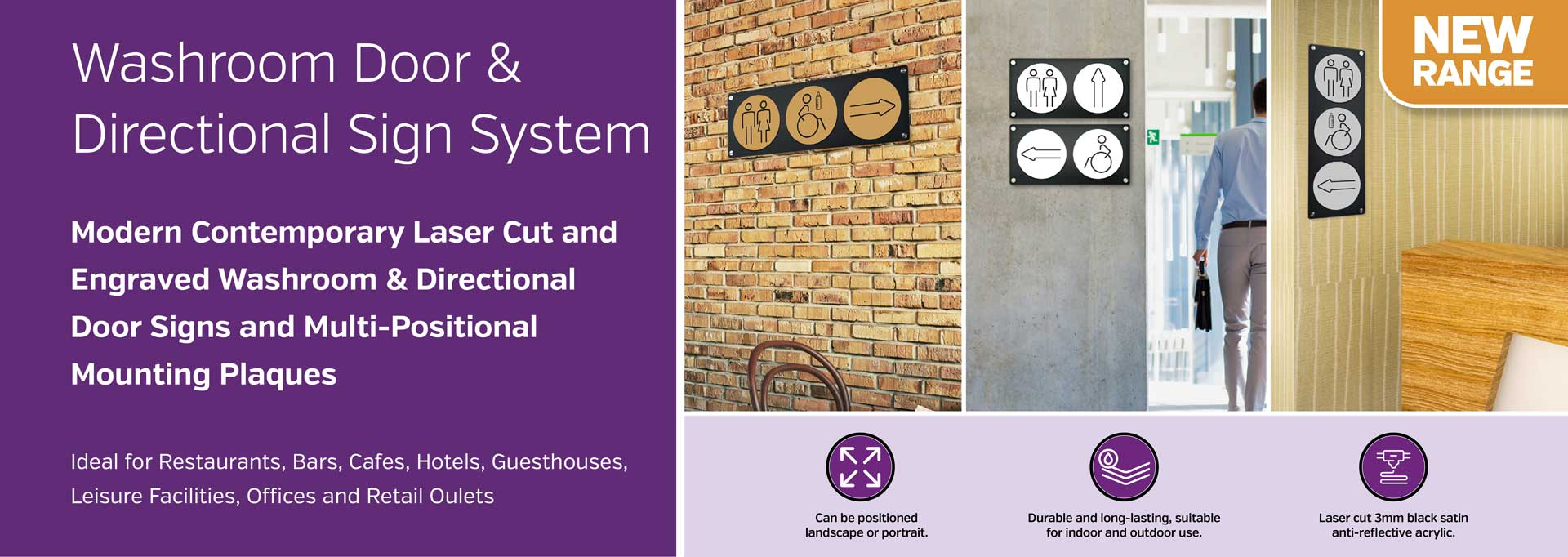 Washroom Door & Directional Sign System