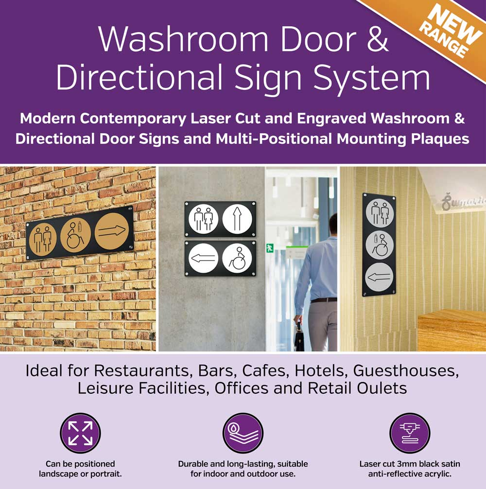 Washroom Door & Directional Sign System